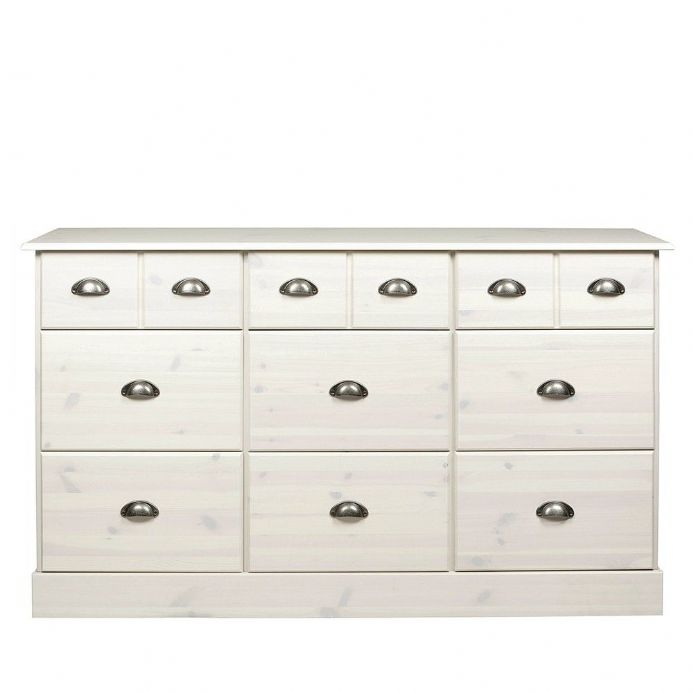 Whitewashed Pine Effect Chest of Drawers